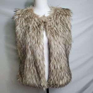 Mixit Faux Fur Lined Sleeveless Vest  Sz S…